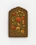 Mirror case with flowers and bird