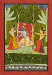 Krishna exacts a toll from the gopis