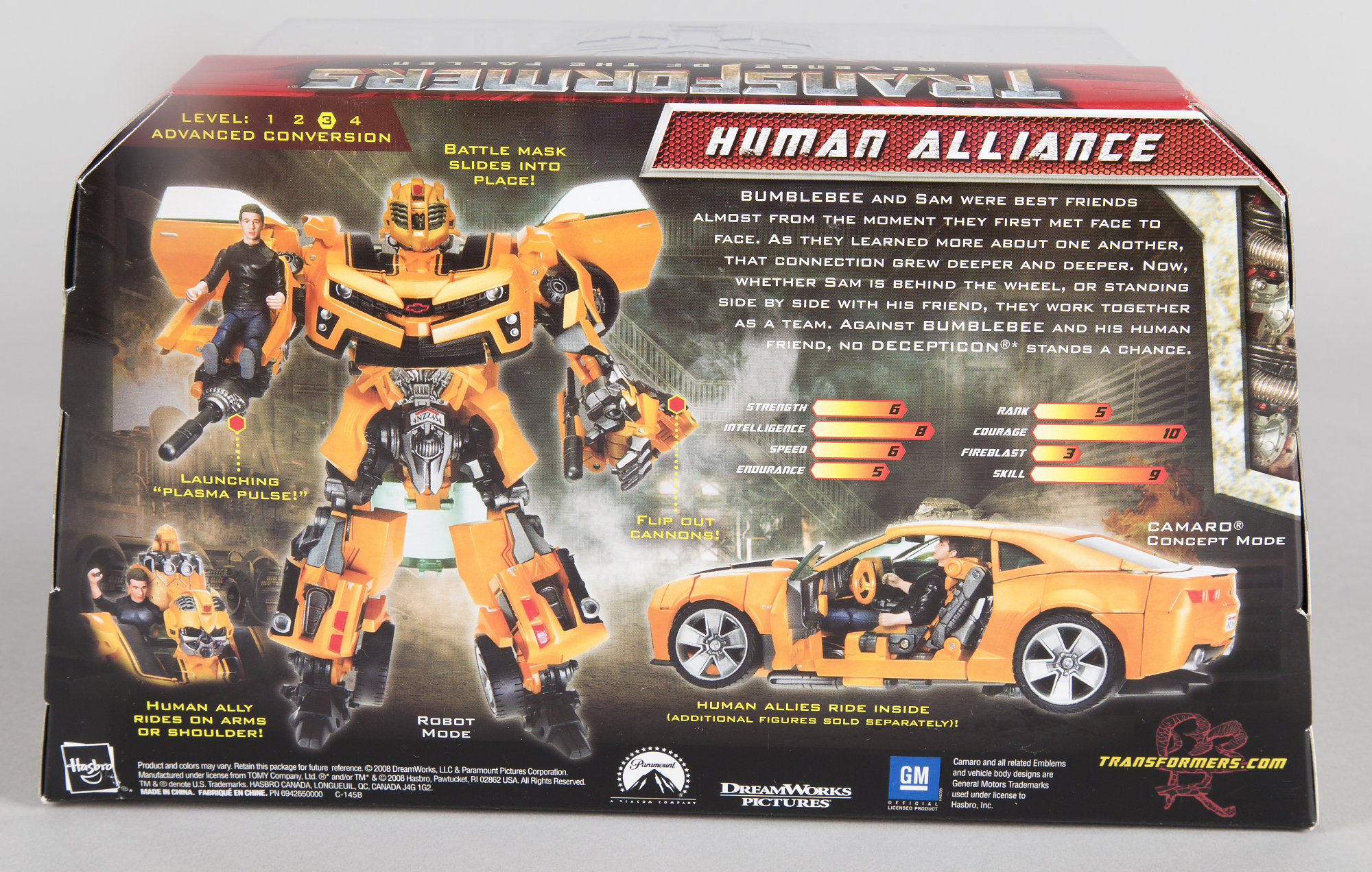 Image of : Toy, Bumble Bee and Sam Witwicky, Human Alliance, Transformers 2