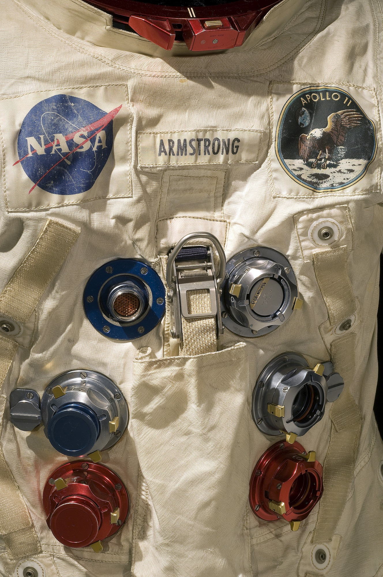 Image of : Pressure Suit, A7-L, Armstrong, Apollo 11, Flown