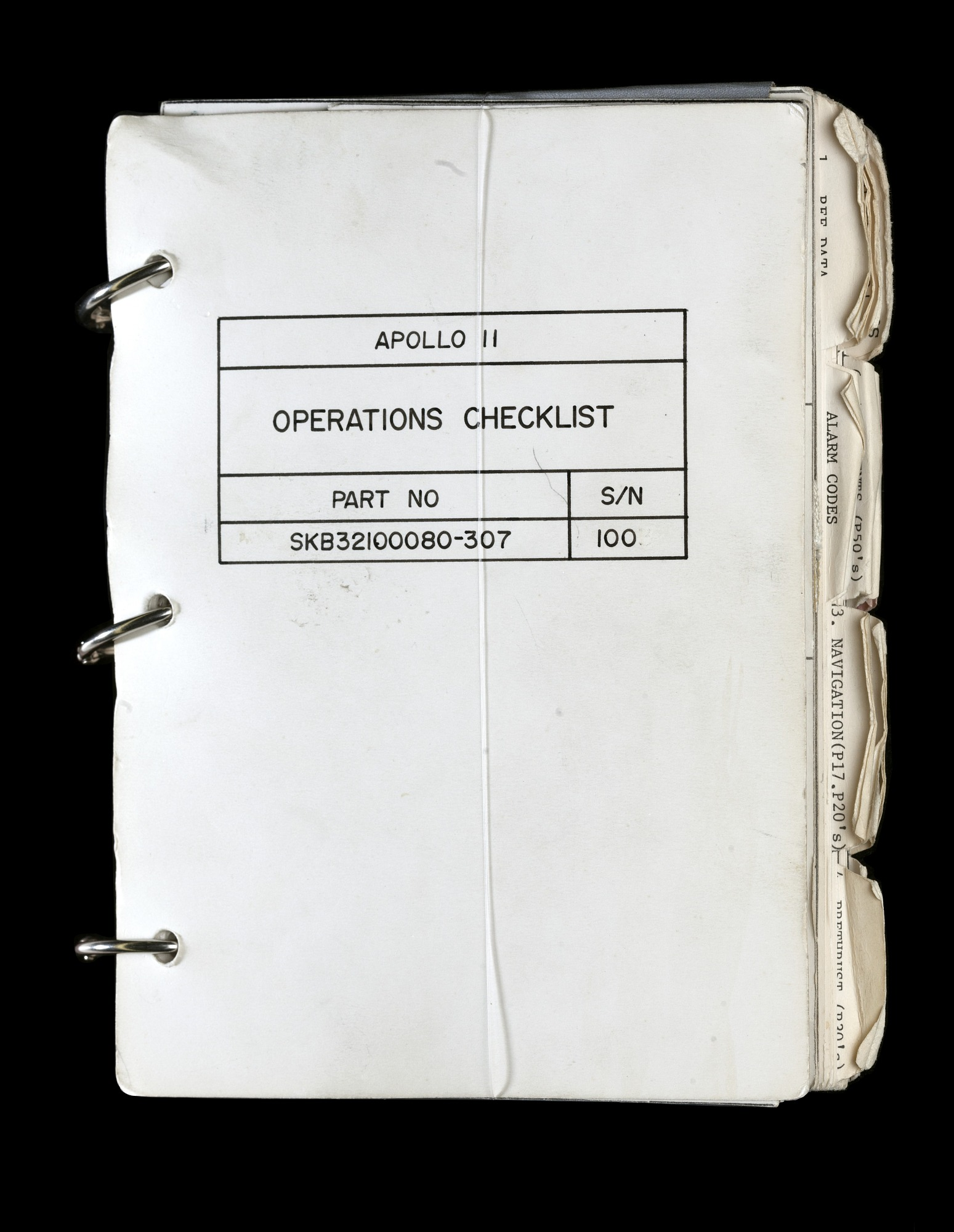 Image of : Checklist, Operations, Apollo 11