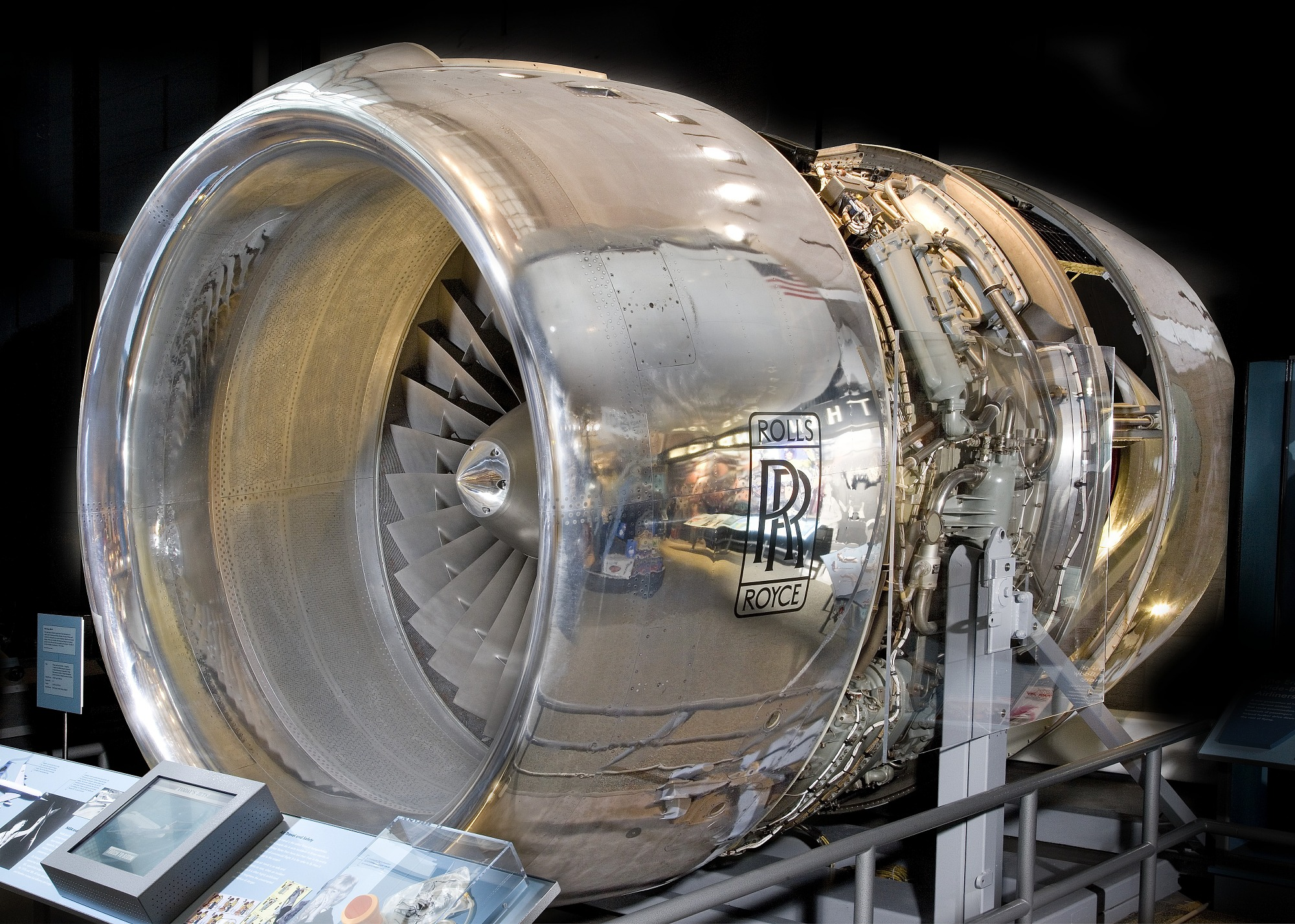 Image of : Rolls-Royce RB211-22 Turbofan Engine, Cutaway