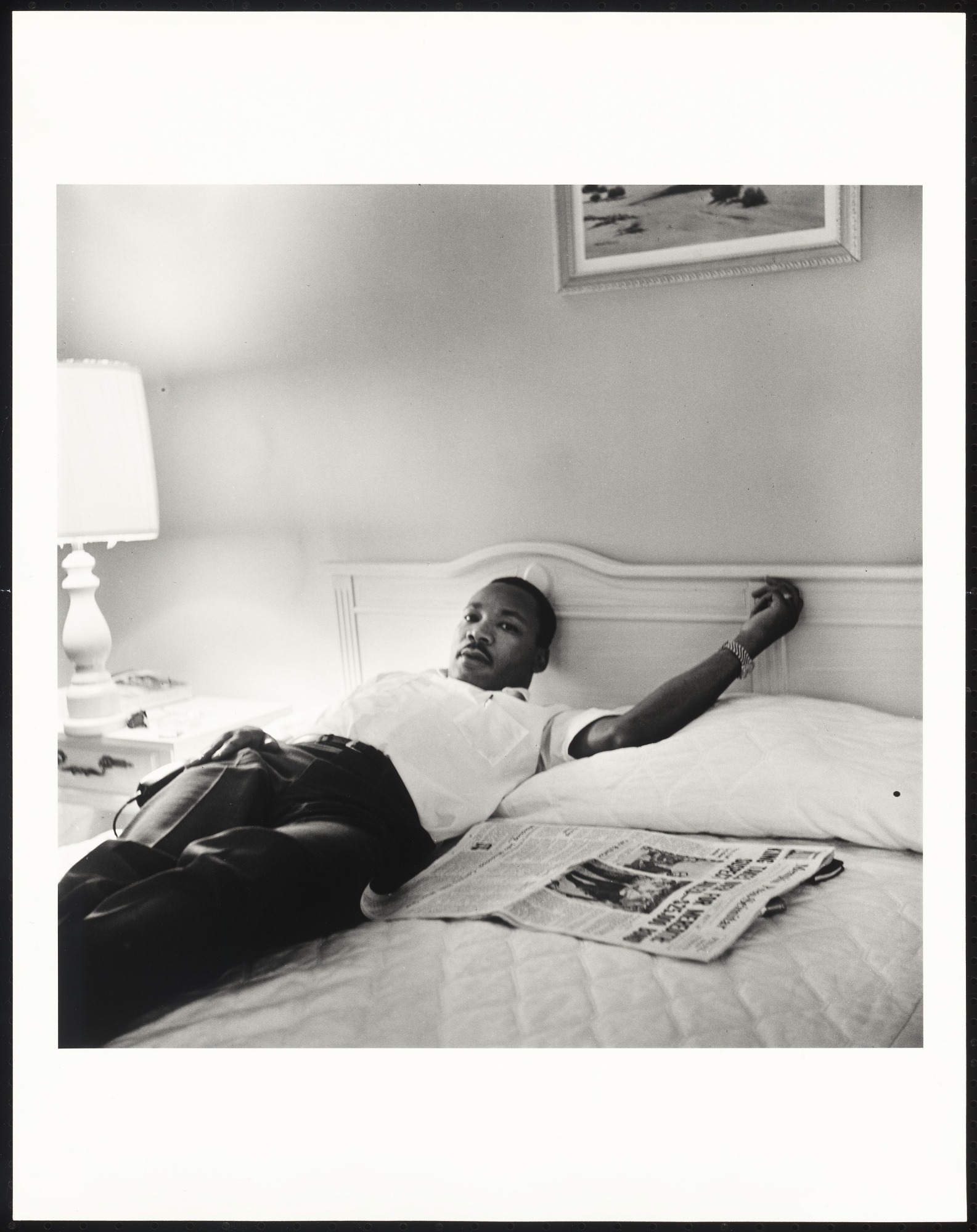 Dr Martin Luther King Jr Resting In Lorraine Motel Following