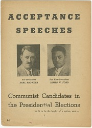 Acceptance Speeches: Communist Candidates in Presidential Elections
