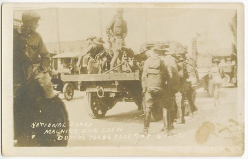 National Guard Machine Gun Crew during Tulsa Race Riot 6-1-21