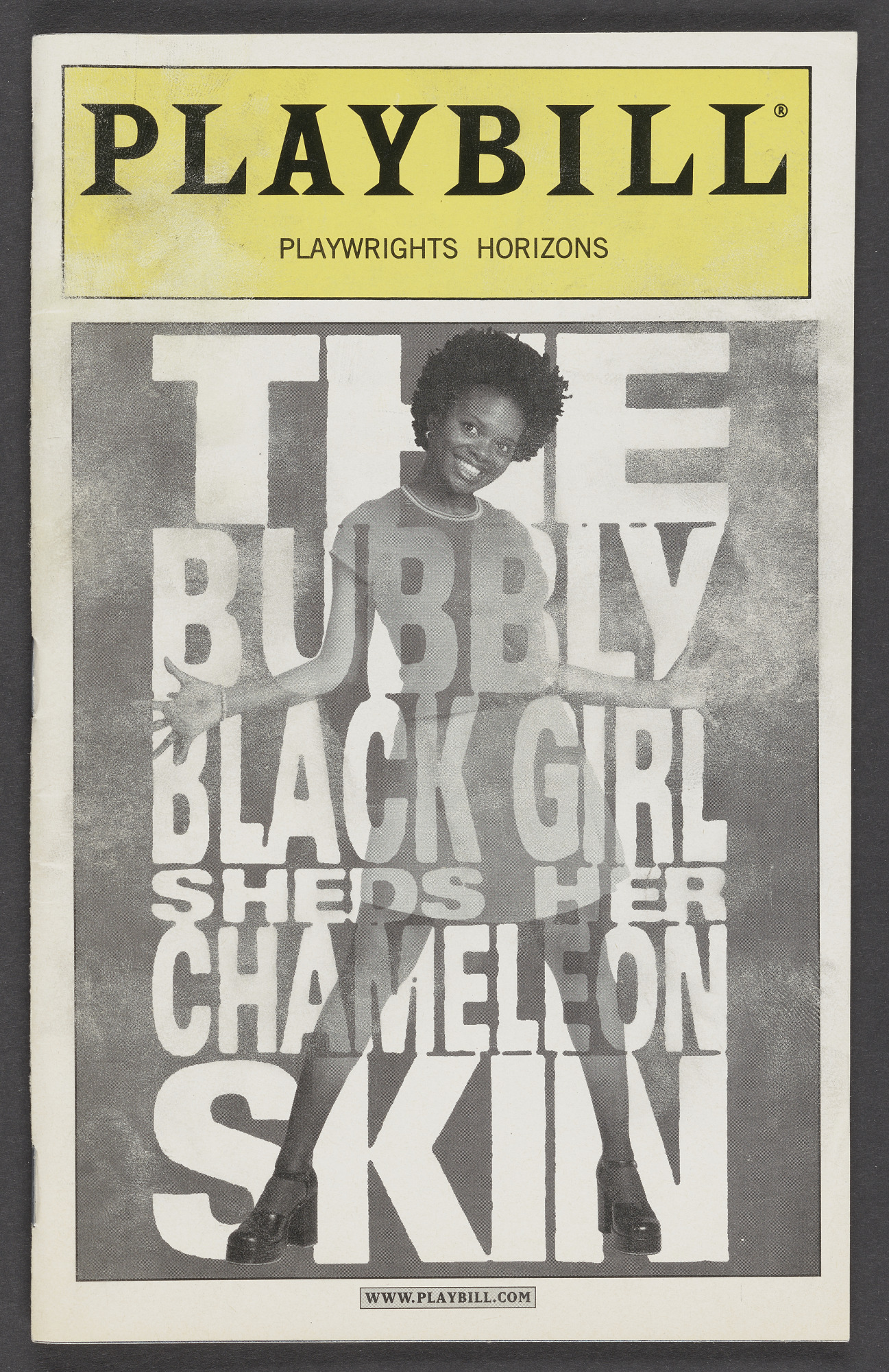 Playbill for The Bubbly Black Girl Sheds Her Chameleon Skin