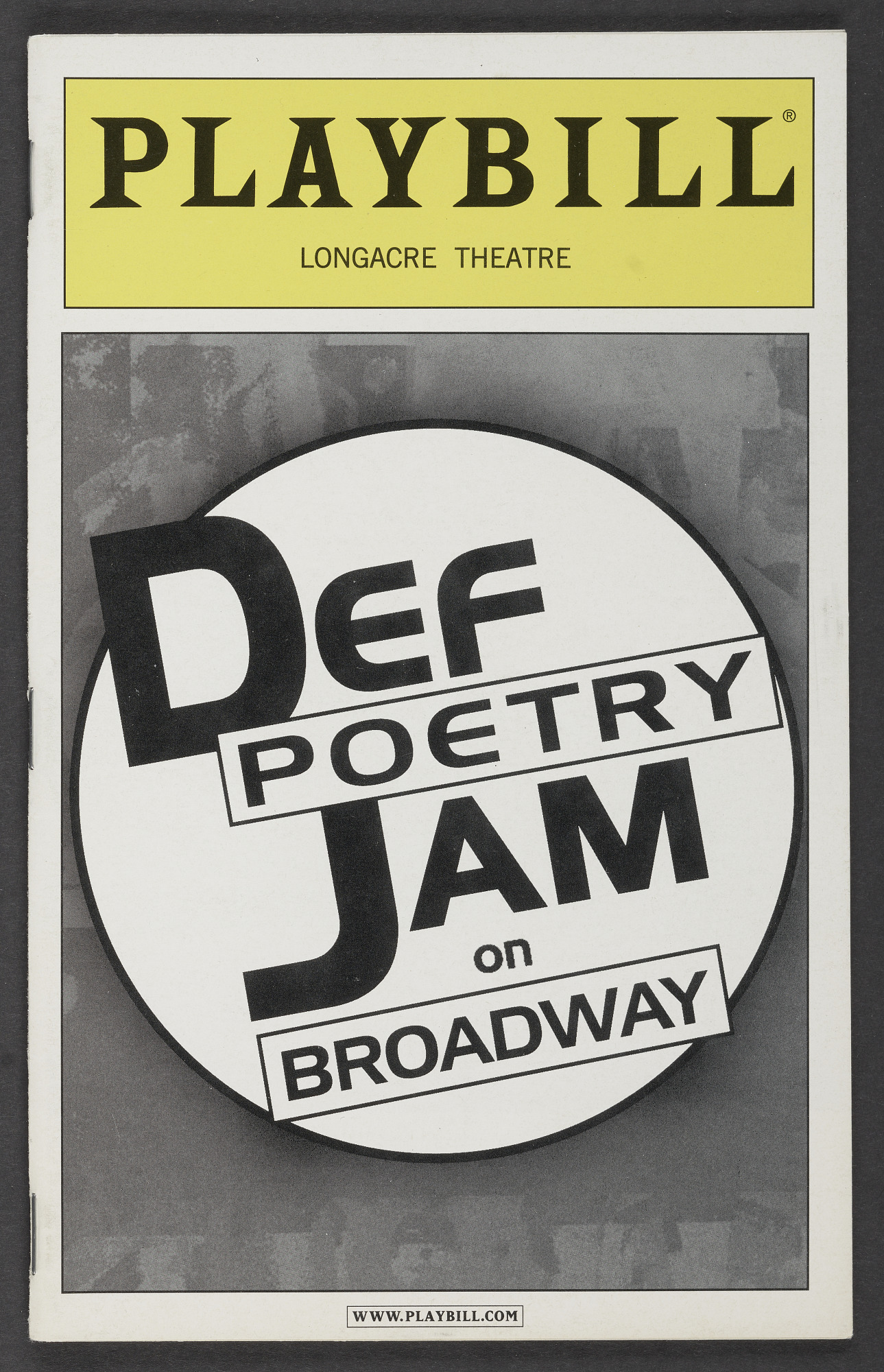 Playbill for Def Poetry Jam on Broadway