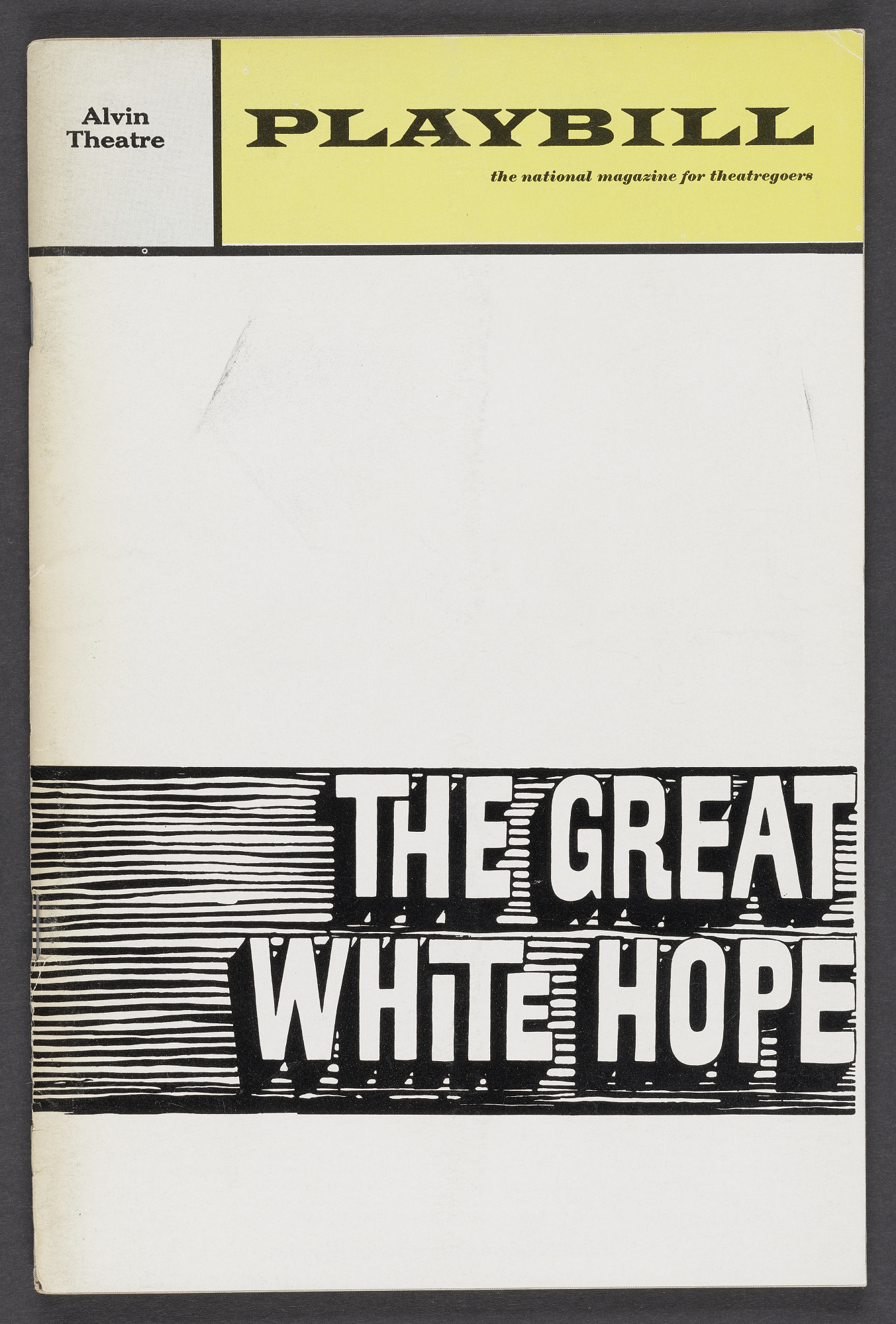 Image for Playbill for The Great White Hope
