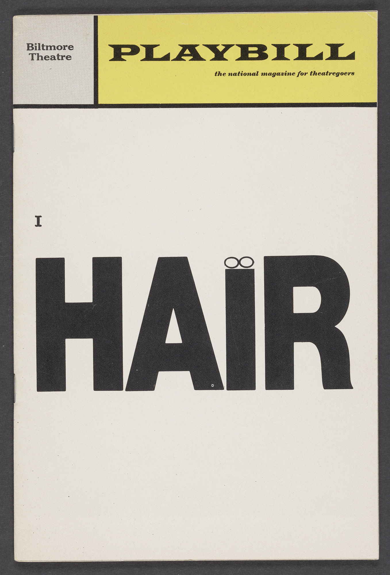 Image for Playbill for Hair