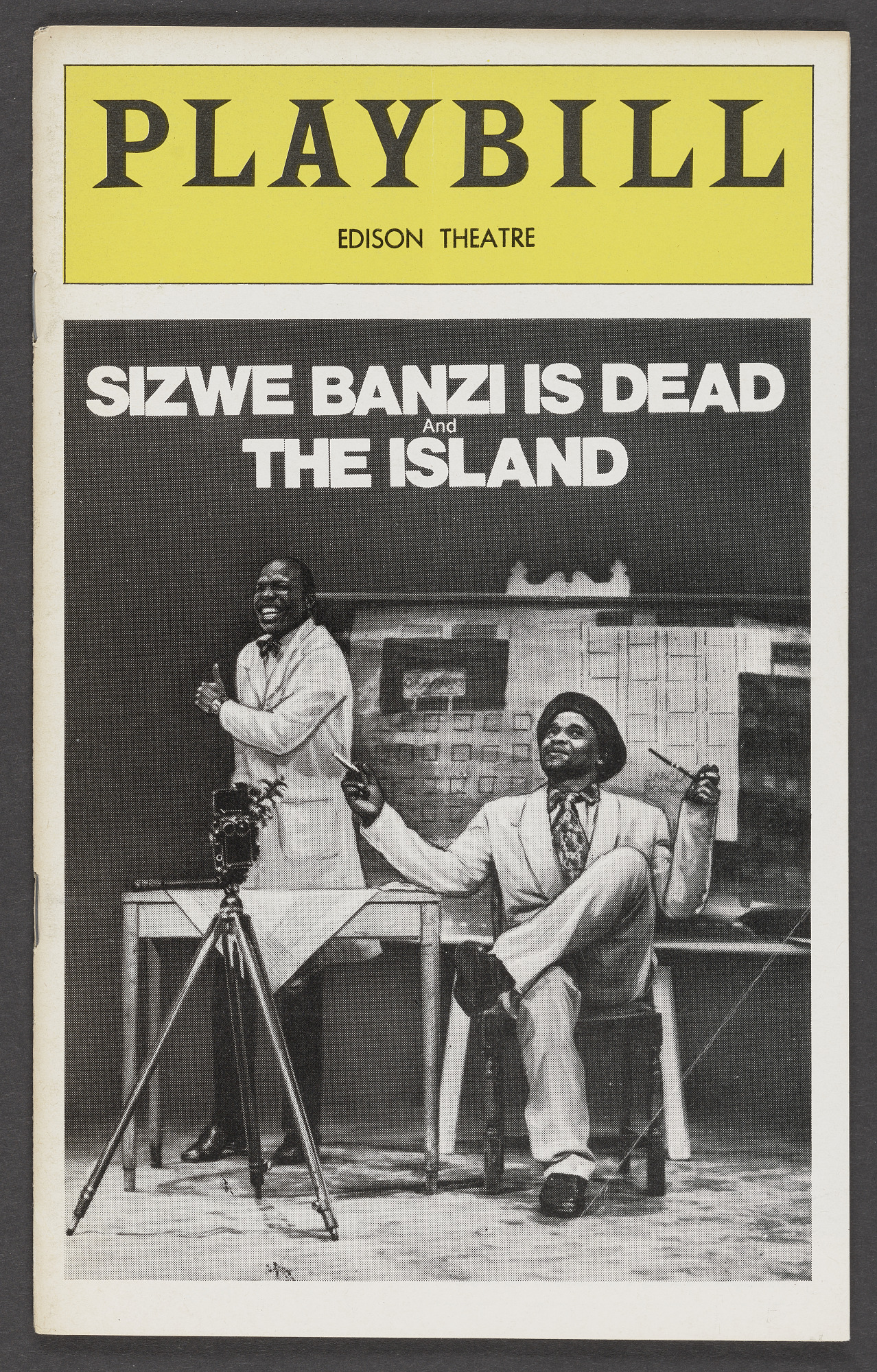 Image for Playbill for Sizwe Banzi is Dead and The Island