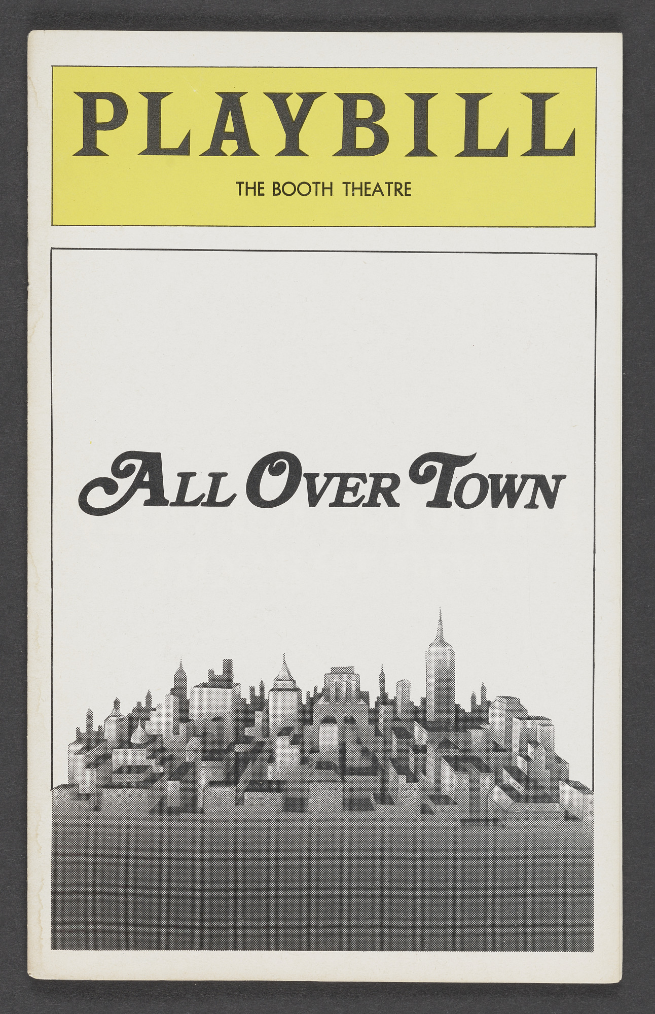 Image for Playbill for All Over Town