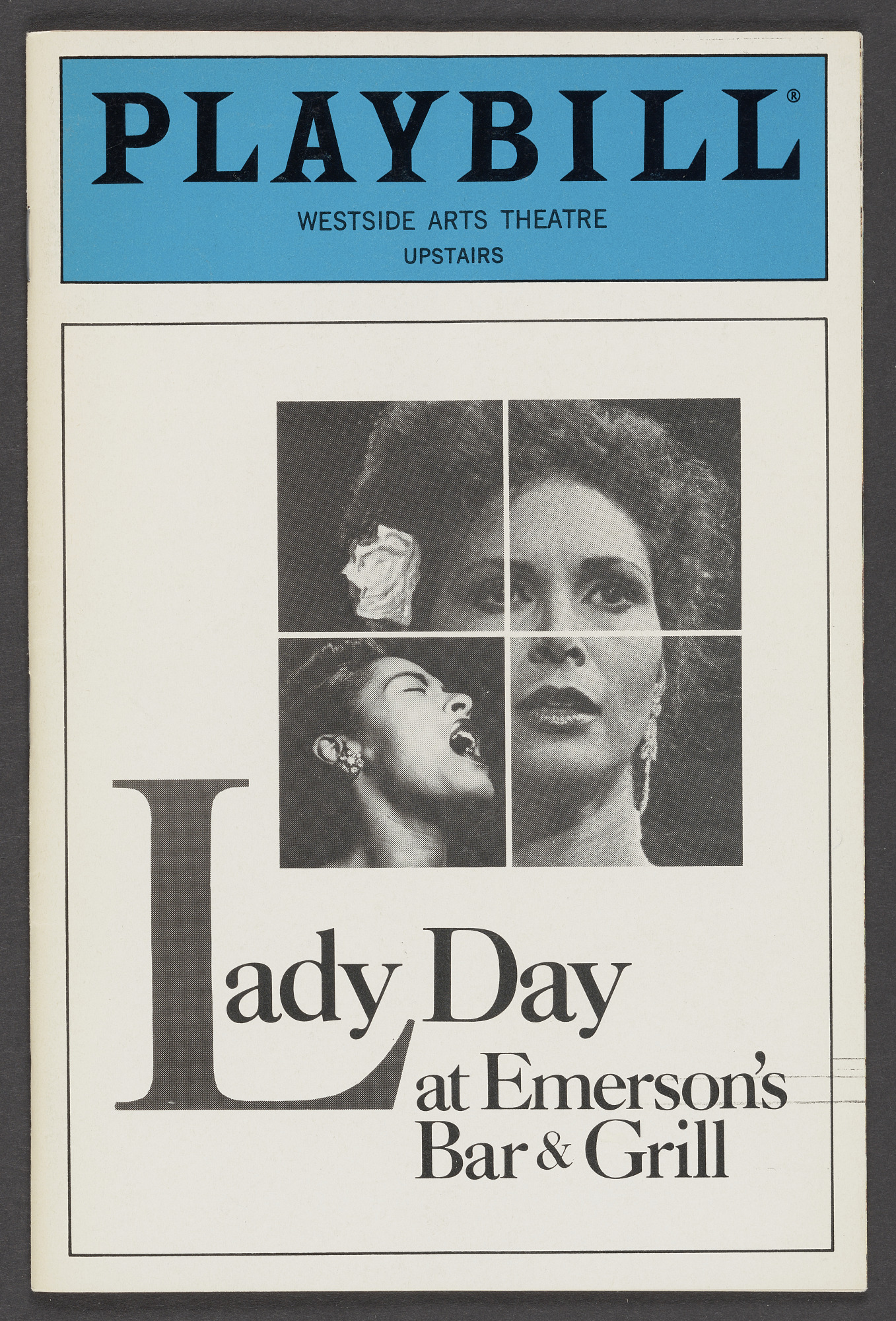 Image for Playbill for Lady Day at Emerson's Bar & Grill