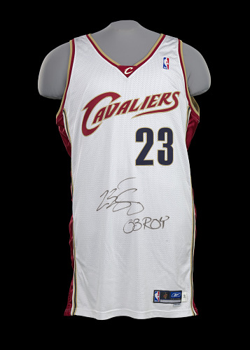 new arrival c0886 407c4 Jersey for the Cleveland Cavaliers worn and signed by LeBron ...