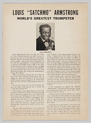 "Program from the Billie Holiday/Louis Armstrong ""Birth of the Blues"" concert"