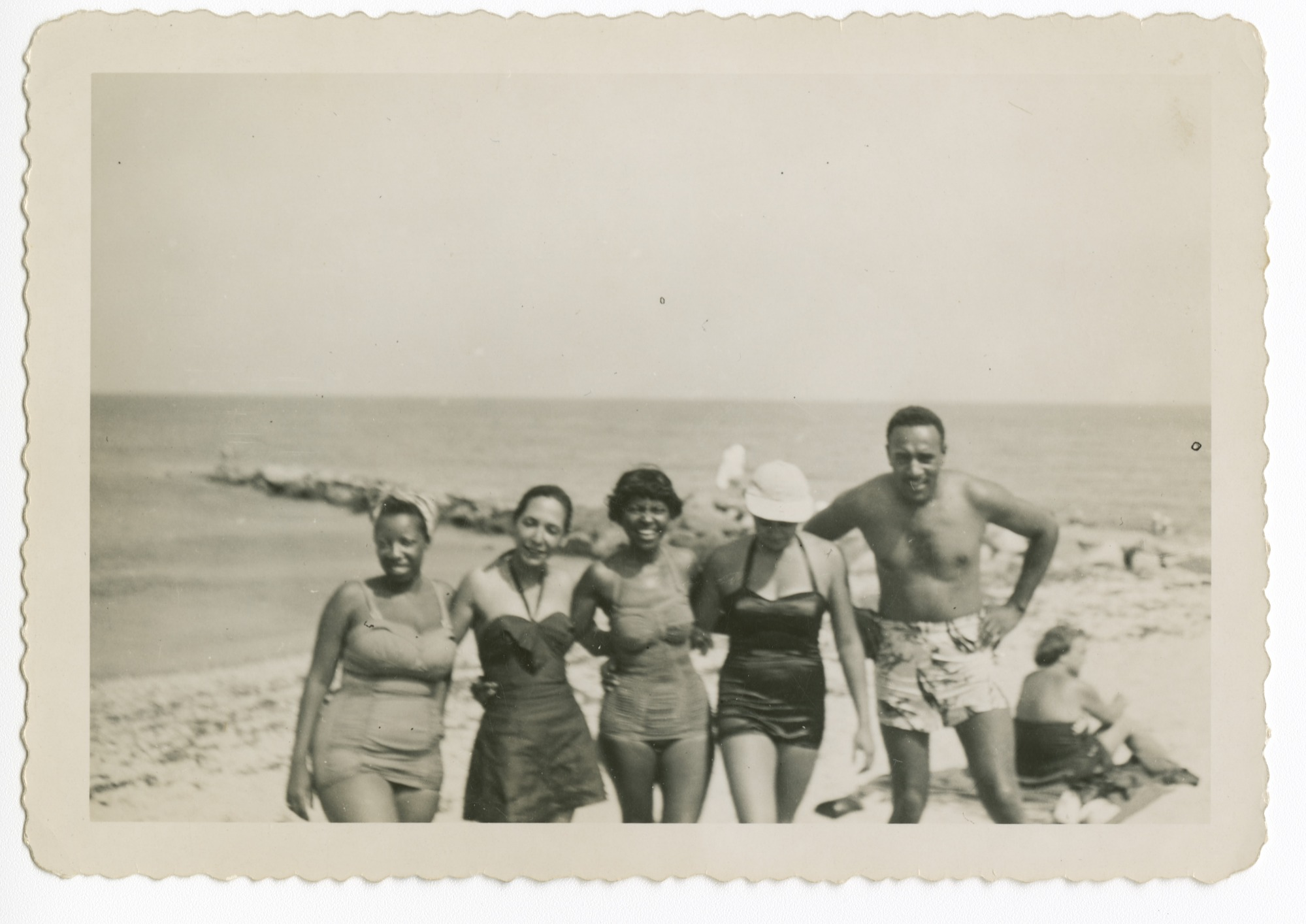 Digital image of the Taylor family at the beach on Martha