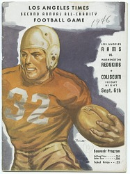 Program from the first Los Angeles Rams home game