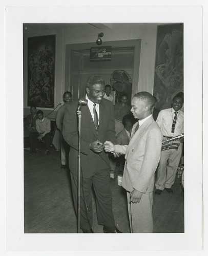photographic print of jackie robinson and harry owens national