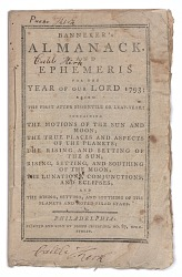 Banneker's Almanack and Ephemeris for the Year of Our Lord 1793