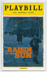 Playbill for A Raisin in the Sun with insert essay 'Sweet Lorraine'