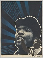 Poster for Black Panther Party Illinois Chapter Chairman Fred Hampton
