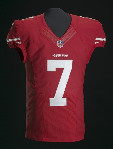 cheap for discount 4fbe7 3eaa6 Football jersey signed by Colin Kaepernick | National Museum ...