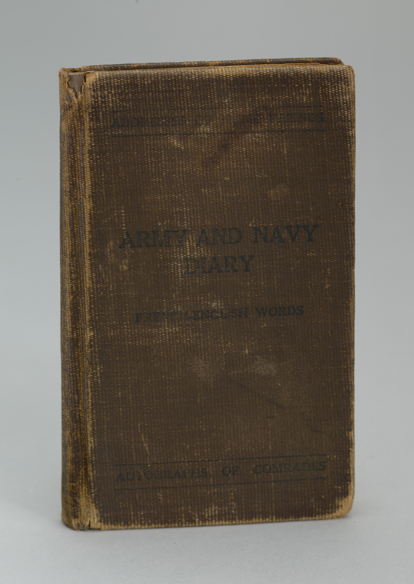 <I>Army and Navy Diary Including French-English Words</I>