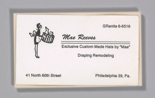 Business cards from maes millinery shop national museum of business cards from maes millinery shop national museum of african american history and culture colourmoves Choice Image