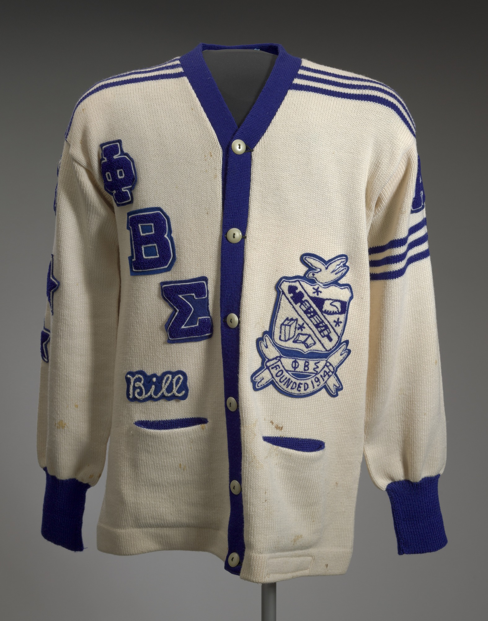 Cardigan From Phi Beta Sigma Fraternity National Museum Of African