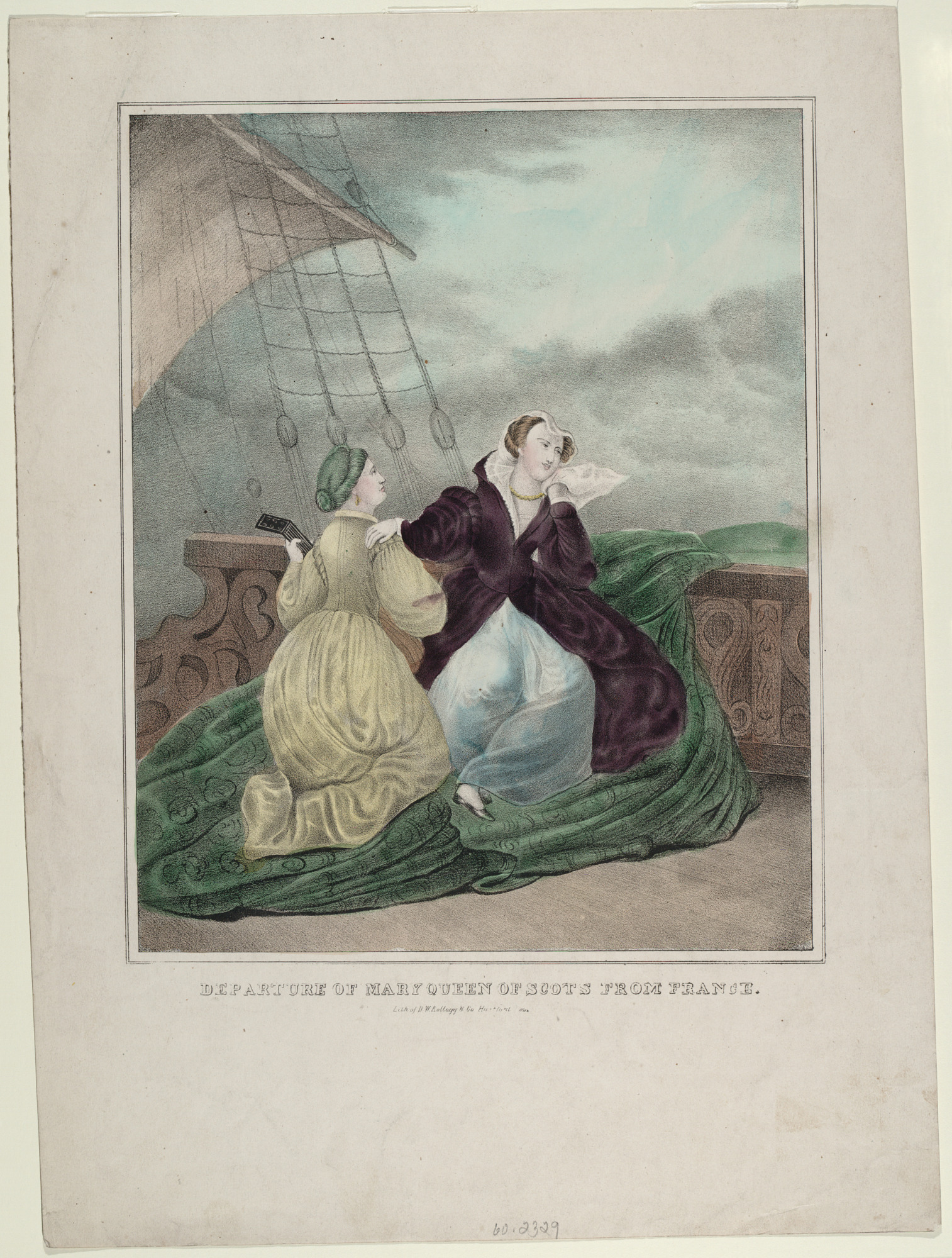 Departure of Mary Queen of Scots from France