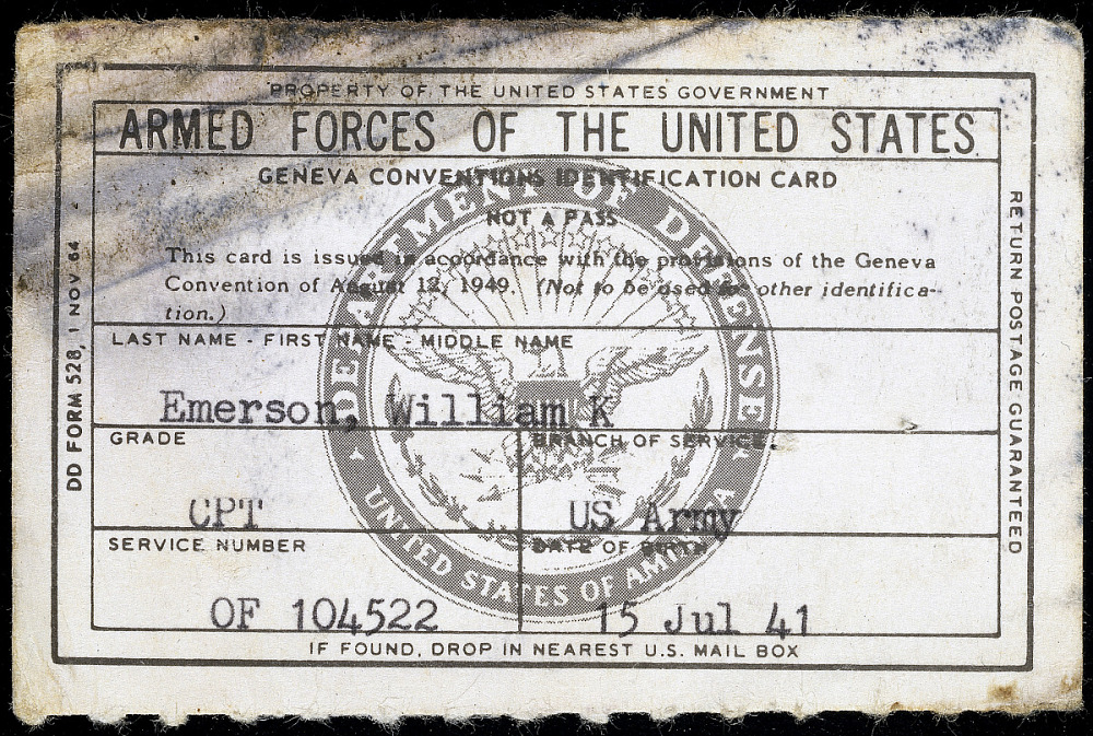 Geneva Convention ID Card | National Museum of American History
