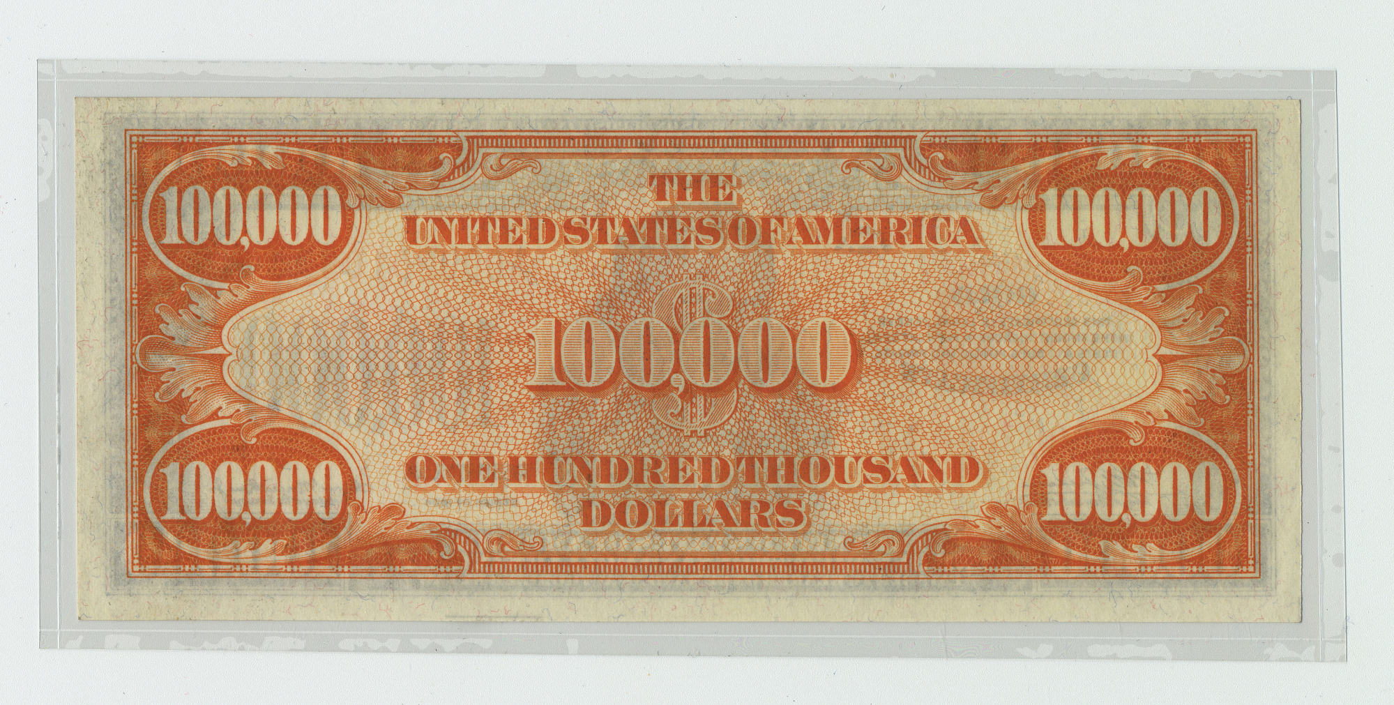 100,000 Dollars, Gold Certificate, United States, 1934
