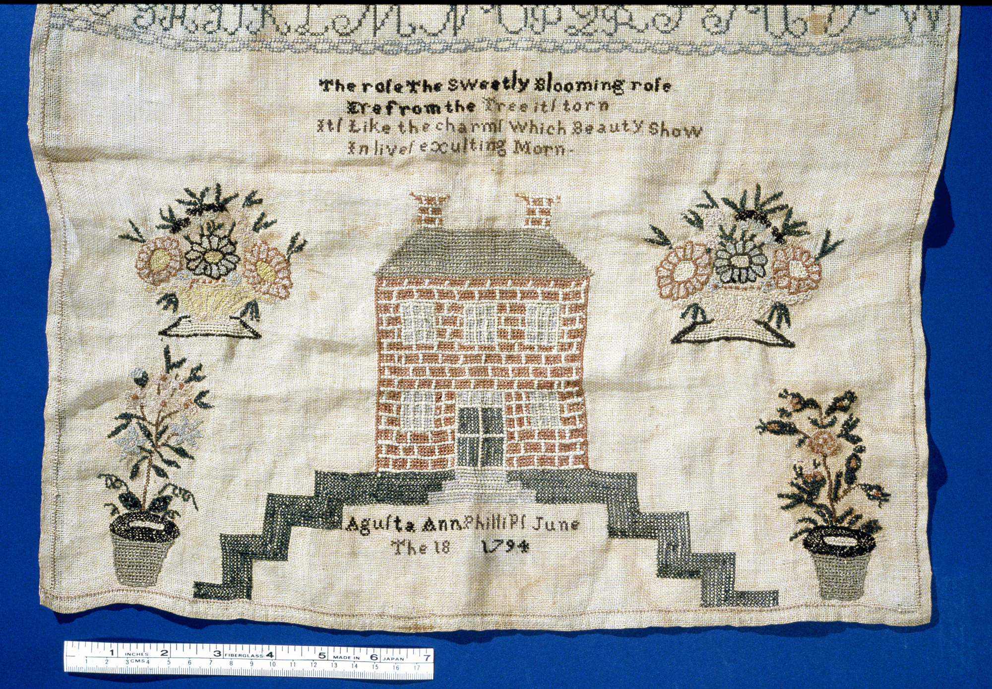 Augusta Ann Phillips's Sampler | National Museum of American History
