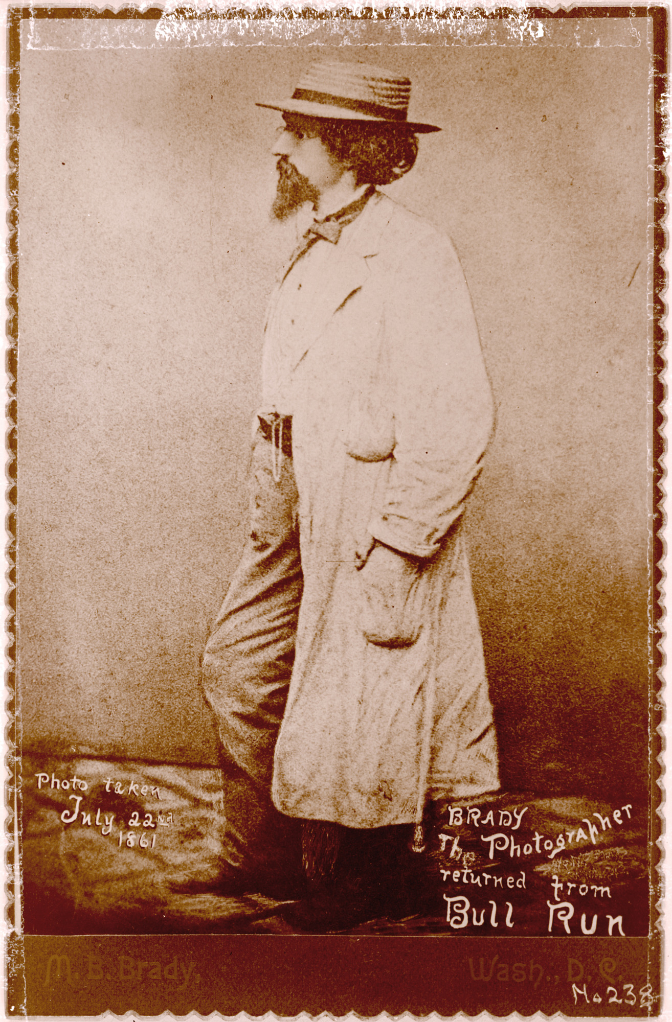 Photograph of Mathew Brady after Bull Run