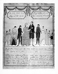 Watercolor Painting Depicting the Bennet Family Record