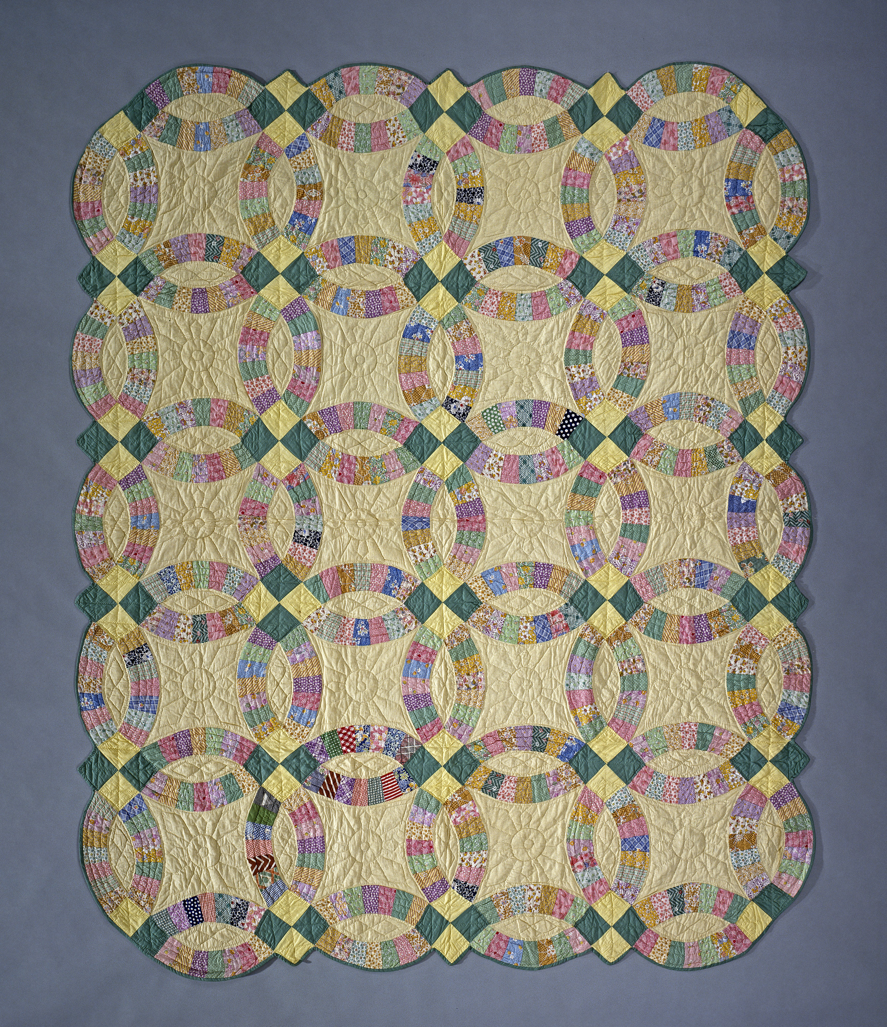 1930 Double Wedding Ring Quilt National Museum Of American History