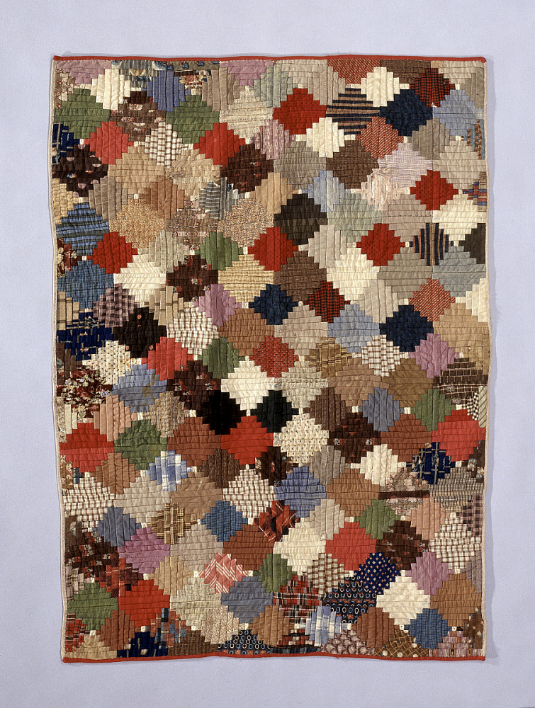 1860 1870 Child S Log Cabin Quilt National Museum Of
