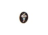 Black Oval Button Inlayed with a Pearl Floral Pattern from National Museum of American History ... See More