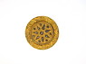 Gold Colored Cut Steel Button with Decorative Star Pattern from National Museum of American History ... See More
