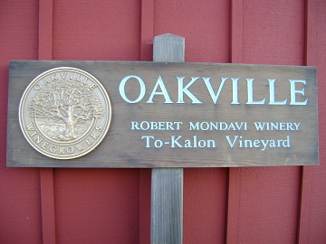 Robert Mondavi's To-Kalon Vineyard Sign