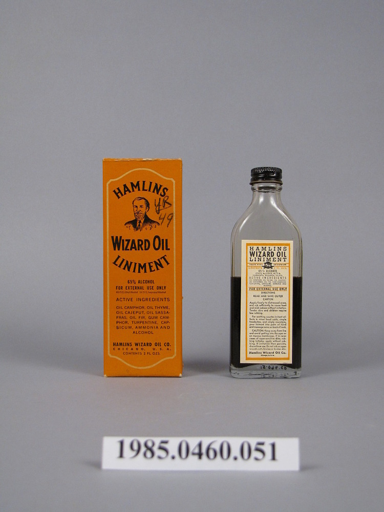 Hamlin's Wizard Oil Liniment   National Museum of American