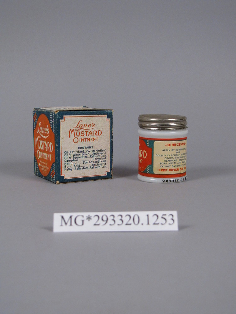 Lane's Mustard Ointment | National Museum of American History