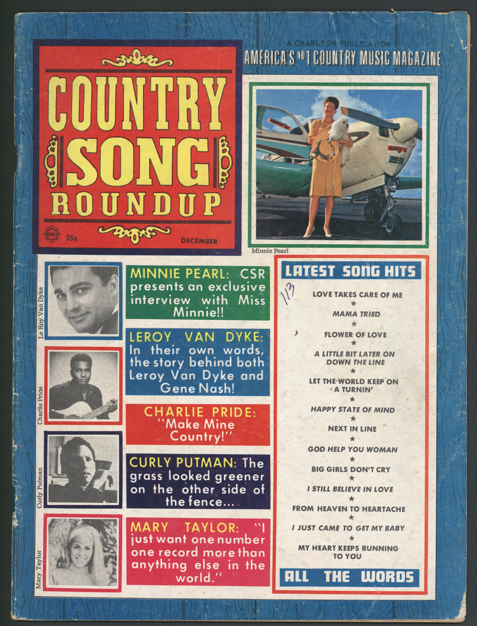 Country Song Roundup, December 1968