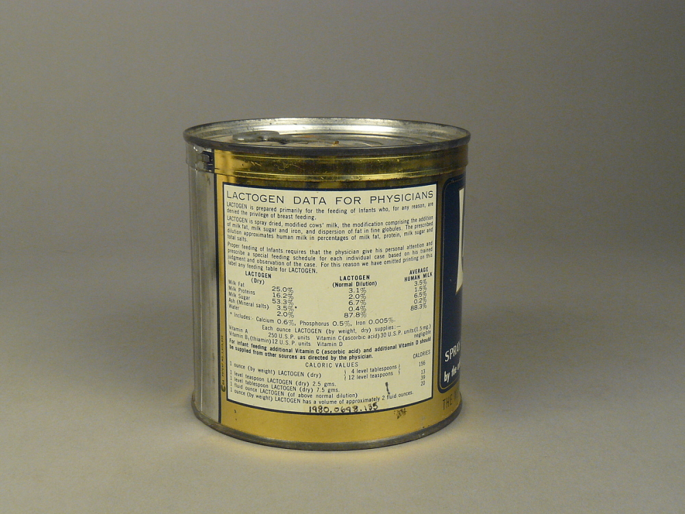 Infant Food, Nestle's Lactogen | National Museum of American History