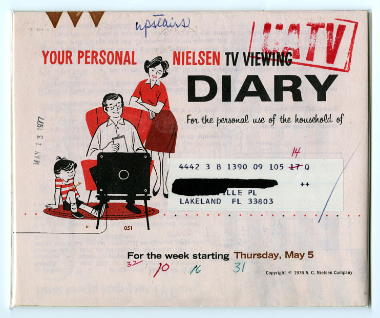 Nielsen TV Viewing Diary, 1977