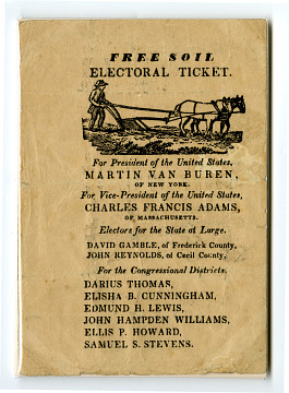 Free Soil Electoral Ticket, 1836