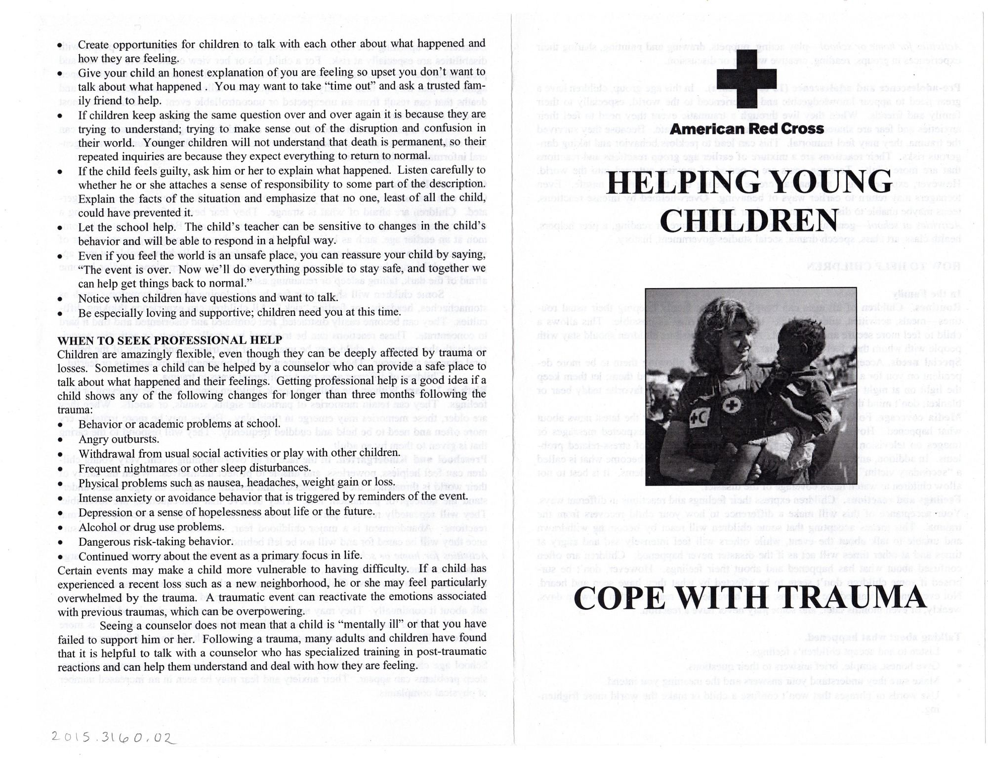 Helping Young Children Cope with Trauma