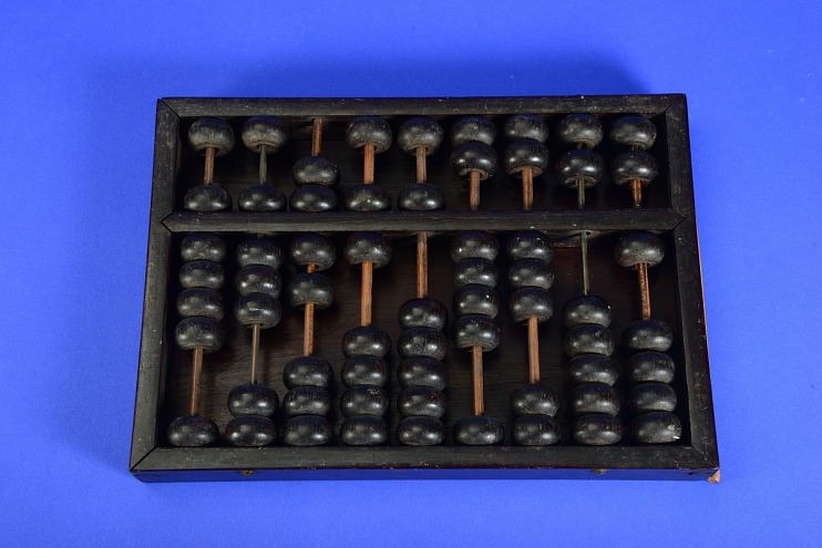 Chinese-Style Abacus or Suan-p'an, Used by Korean Settlers in Hawaii