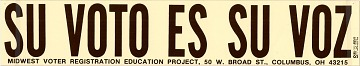 Vote Bumper Sticker