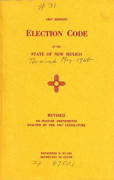 Election Code of New Mexico, 1967