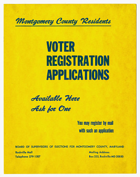 Sign, Voter Registration Applications